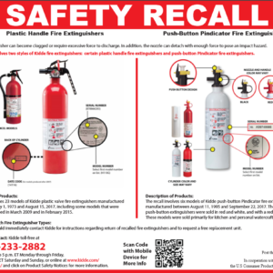 Important Fire Extinguisher Recall Notice